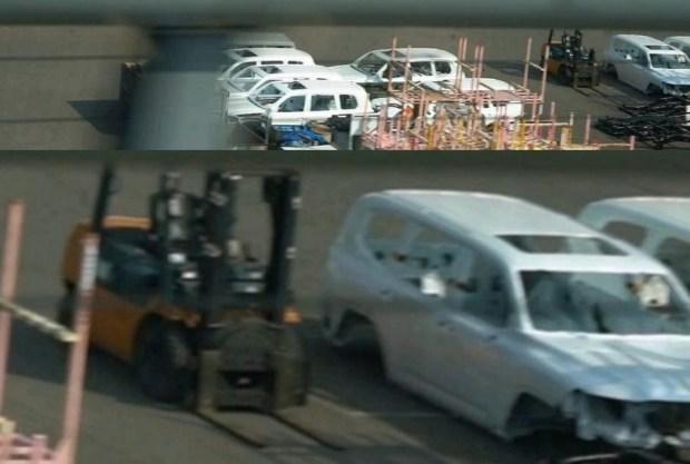Новый Toyota Land Cruiser 300 (снизу)